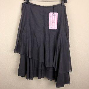 Cabi Malachite Layered Skirt Size 8 NWT